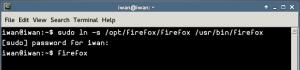 symbolic link firefox