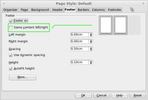 page style