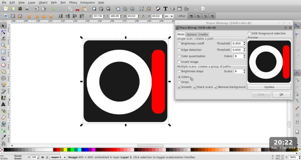 Cara Cepat Membuat Duplikat Logo ke Vektor – Inkscape - 2