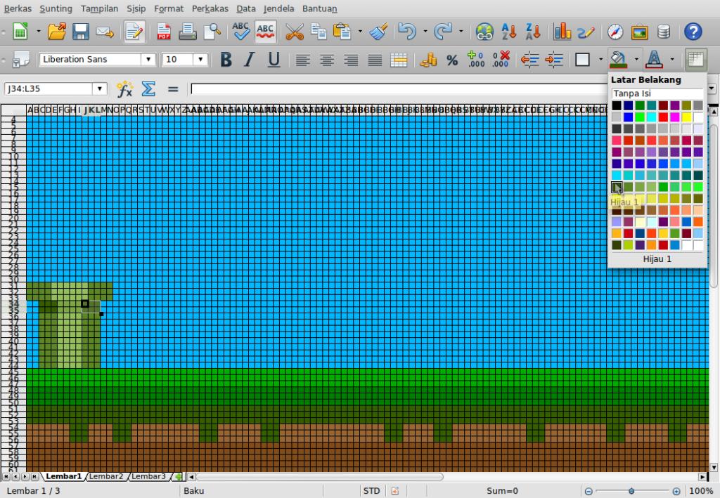Gambar-Layar-Menggambar di Libre Office Calc.ods - LibreOffice Calc-15