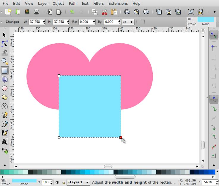 Membuat Bentuk Love – Inkscape - 3