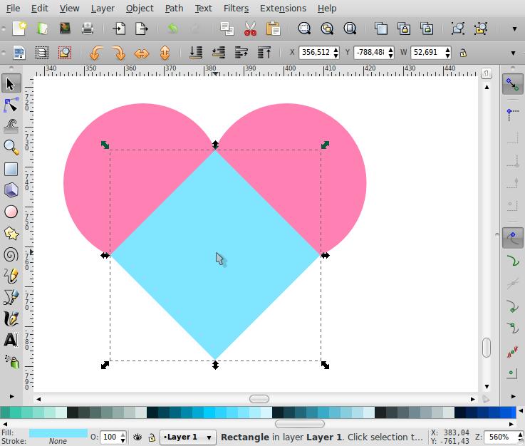 Membuat Bentuk Love – Inkscape - 4