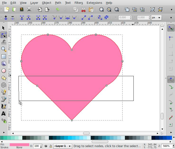 Membuat Bentuk Love – Inkscape - 6