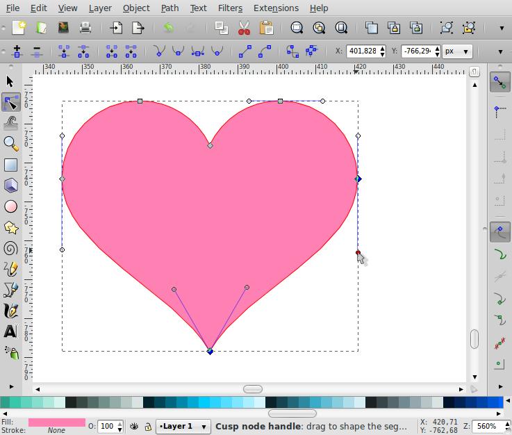 Membuat Bentuk Love – Inkscape - 8