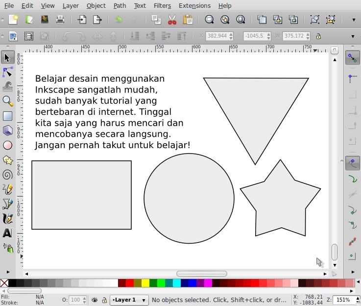 Penempatan Teks Sesuai Bentuk Objek – Inkscape - 2