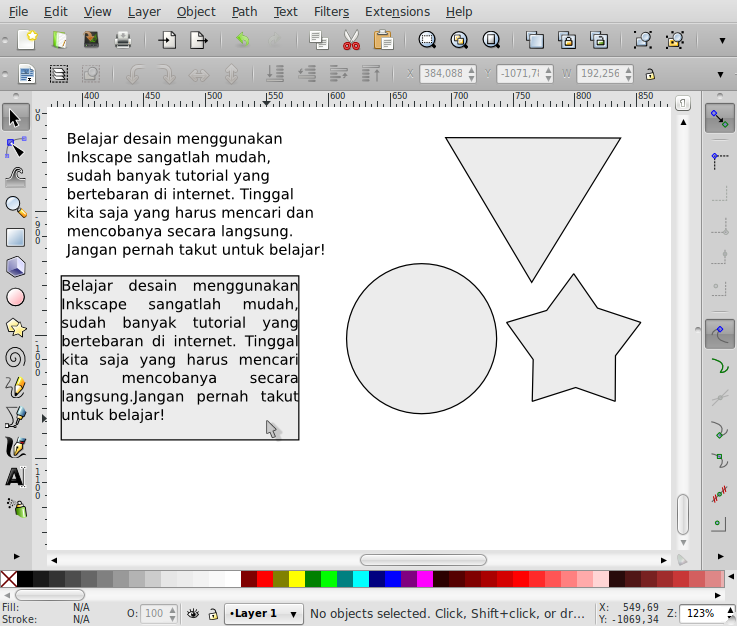 Penempatan Teks Sesuai Bentuk Objek – Inkscape - 5