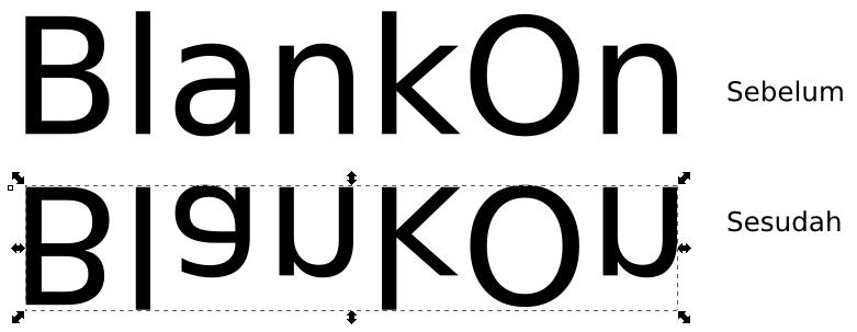 Teknik Rotasi dan Membalik Obyek – Inkscape - 6