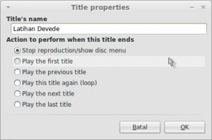 Title properties