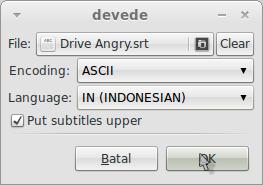 atur bahasa subtitle