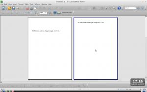 low preview dua halaman dengan margin beda