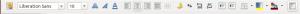 toolbar formating