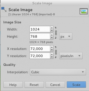 Jendela pengaturan Image_Size