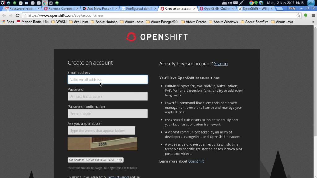 create user openshift