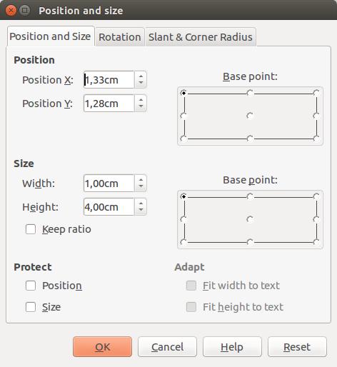 desain anyaman position and size