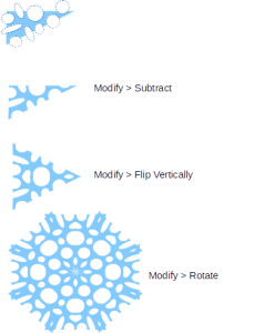 kirigami pola gunting dan hasil pola
