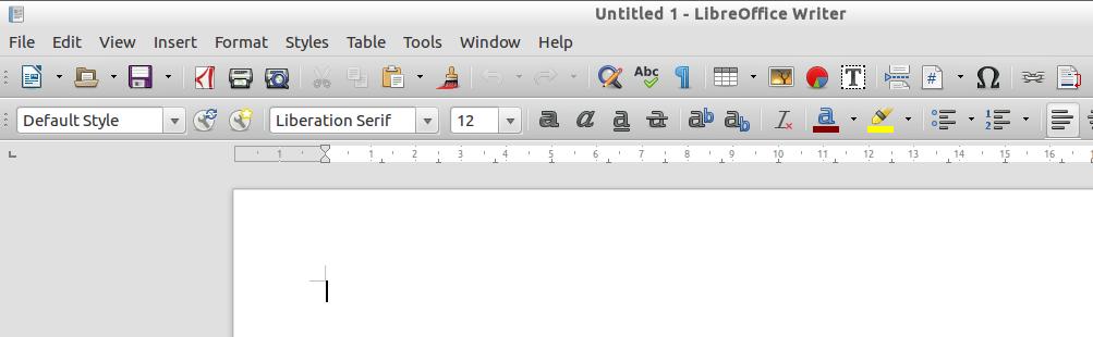 Menu LibreOffice Writer