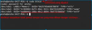 Cek UUID di Linux