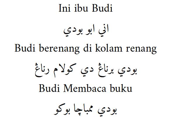 Menulis Aksara Pegon dengan Indonesian Keyboard